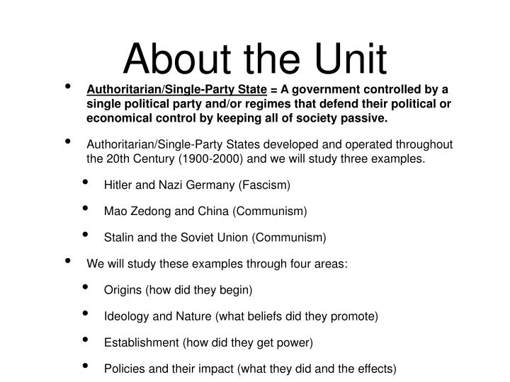 About the unit