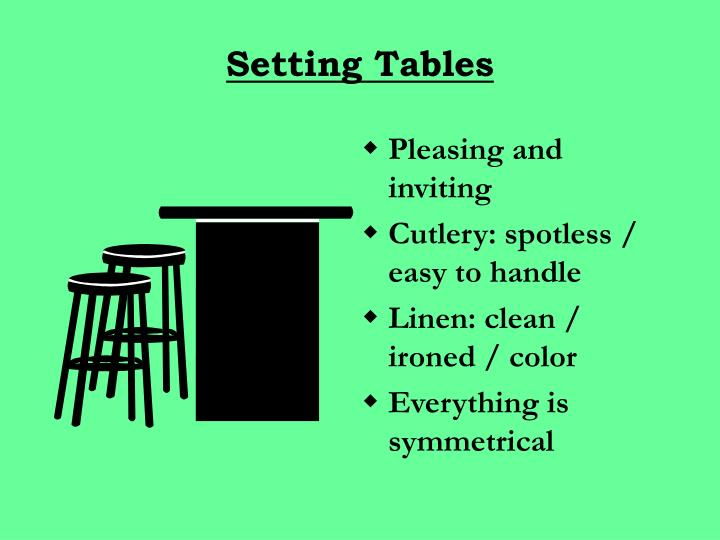 Setting Tables