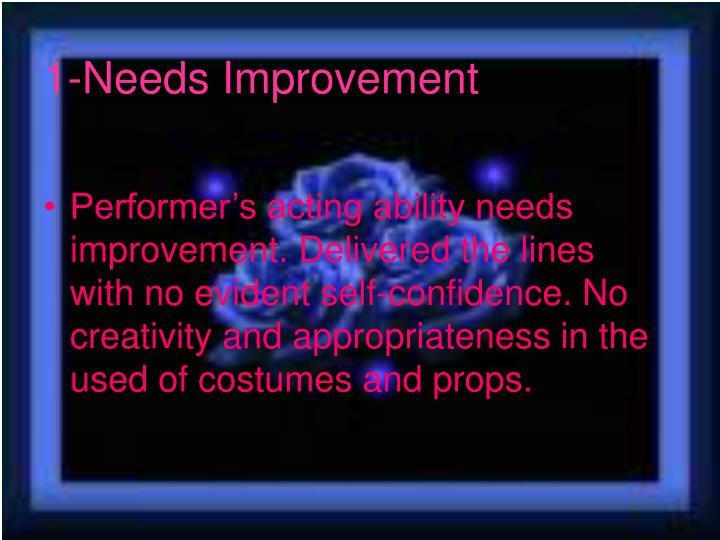 1-Needs Improvement
