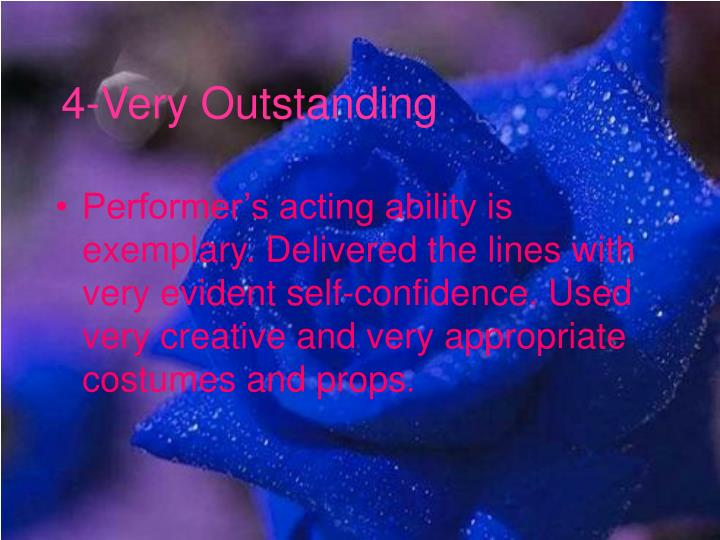 4-Very Outstanding