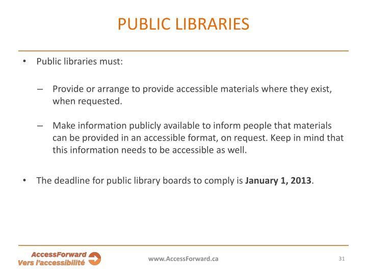 Public libraries