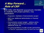 a way forward role of crp