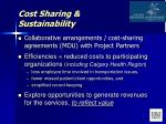 cost sharing sustainability