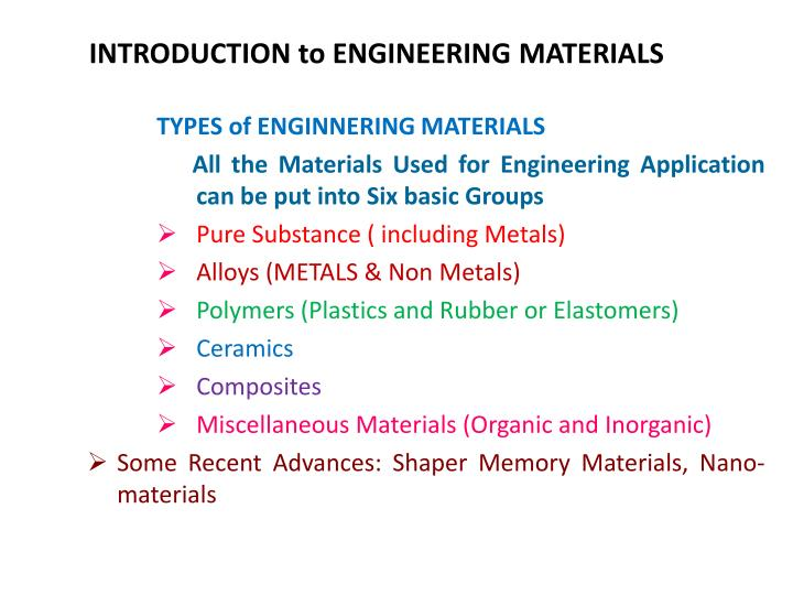 introduction to engineering materials n.