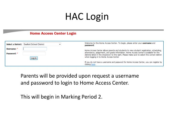 Ppt Home Access Center Powerpoint Presentation Id6903804