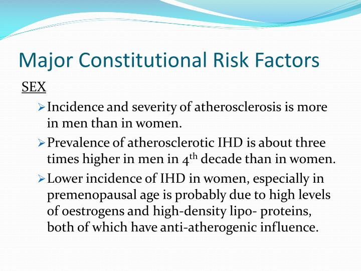 Major Constitutional Risk Factors