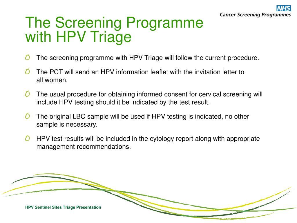 hpv triage definíció