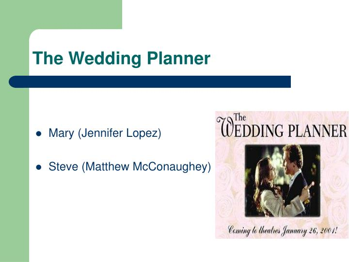 ppt the wedding planner powerpoint presentation id 6904073