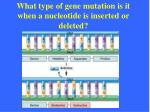 what type of gene mutation is it when a nucleotide is inserted or deleted