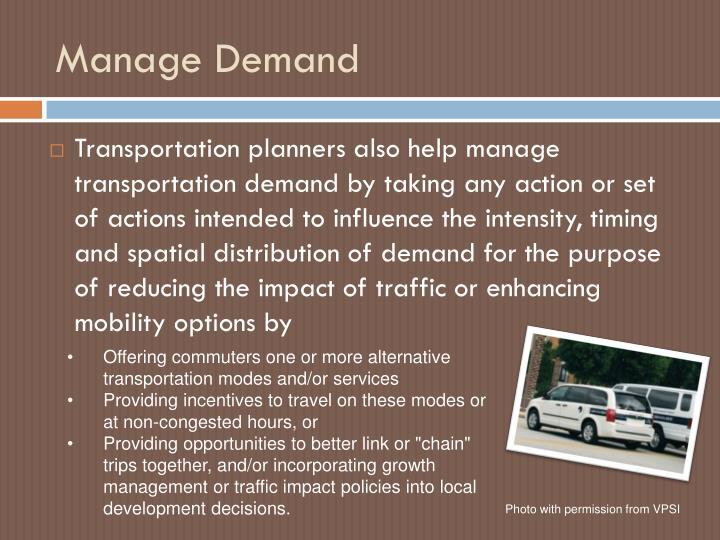 Manage Demand