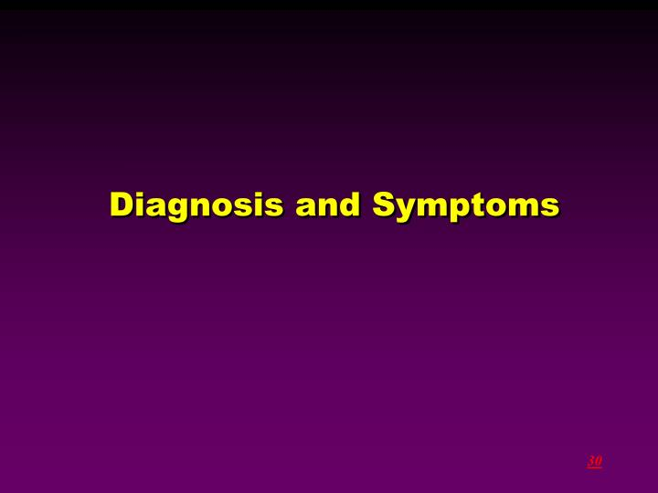 Diagnosis and Symptoms
