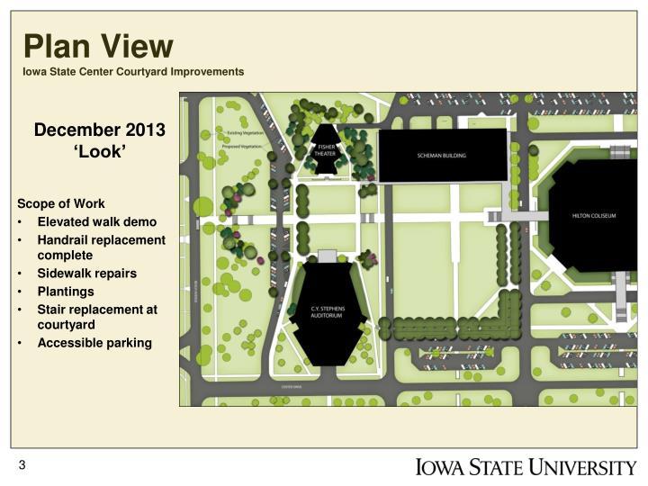 Plan view iowa state center courtyard improvements