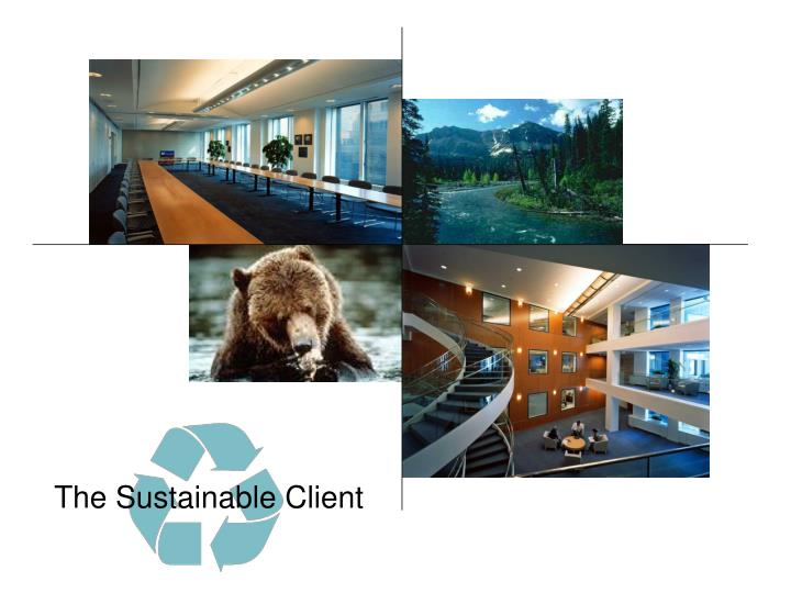 The Sustainable Client