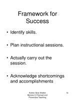 framework for success