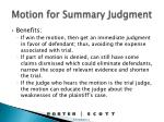 motion for summary judgment1