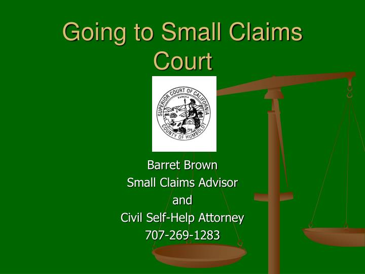 Going to small claims court