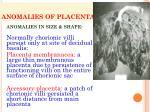 anomalies of placenta