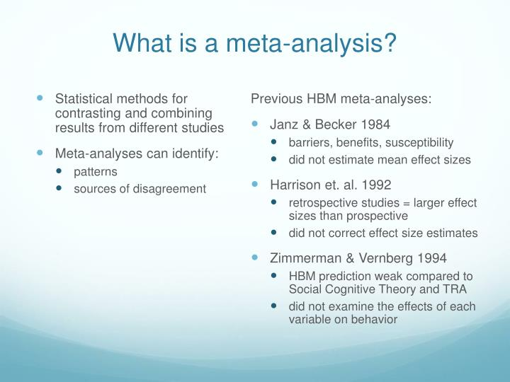 What is a meta analysis