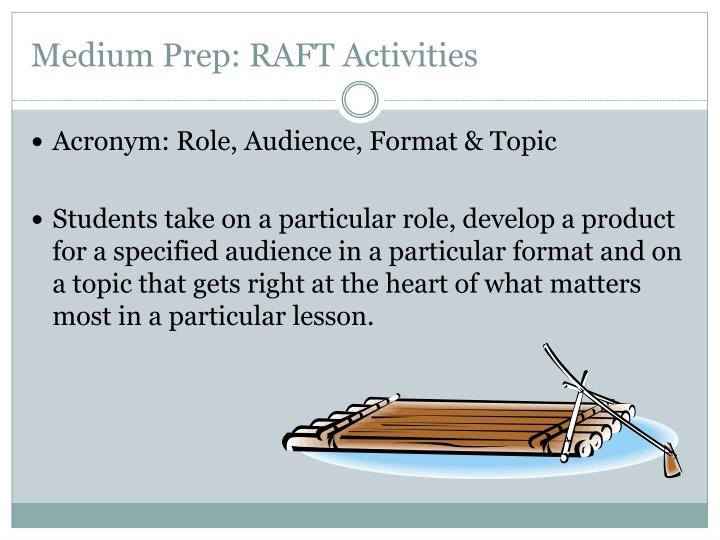 Medium Prep: RAFT Activities