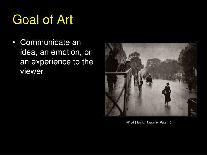 Goal of Art