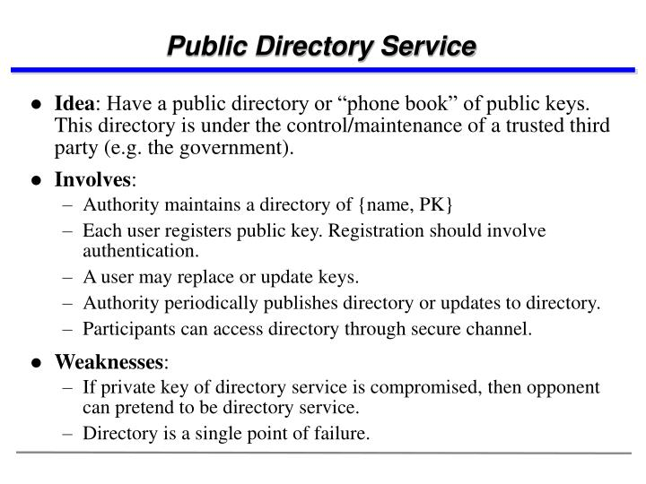 Public Directory Service
