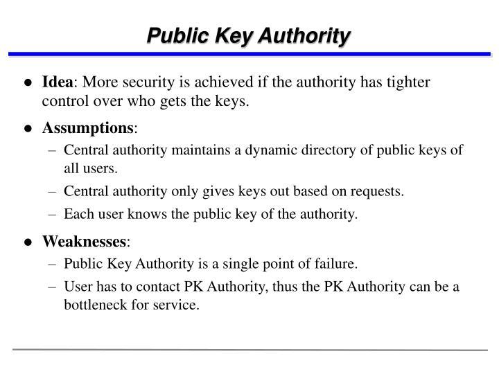 Public Key Authority