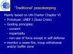 traditional peacekeeping