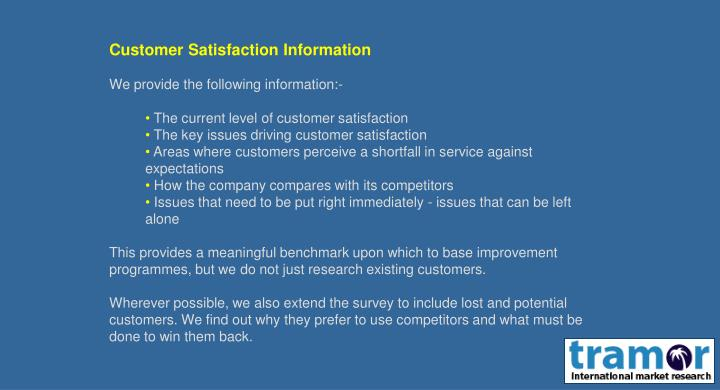 research project customer satisfaction restaurant Customer satisfaction, service quality and customer's repatronage intentions the predictive ability of satisfaction and service quality on repatronage intention will also be analyzed.