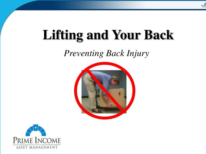 lifting and your back n.