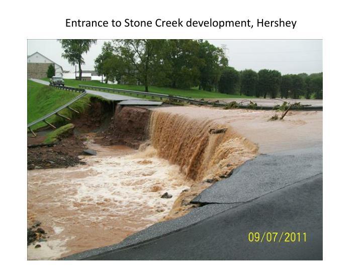 Entrance to Stone Creek development, Hershey