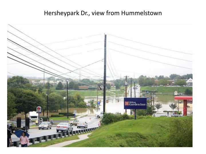 Hersheypark Dr., view from Hummelstown