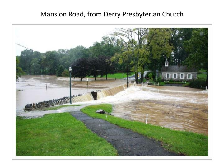 Mansion Road, from Derry Presbyterian Church