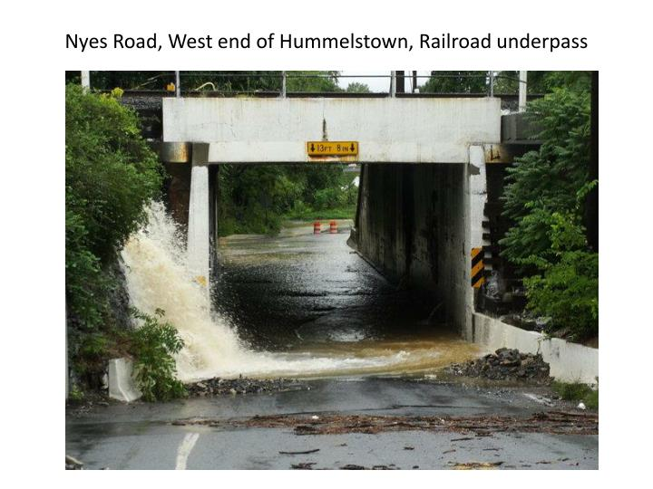 Nyes Road, West end of Hummelstown, Railroad underpass