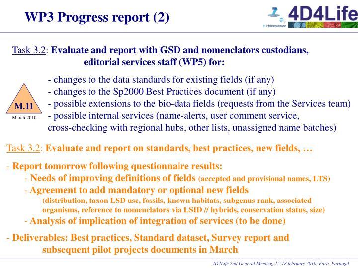 WP3 Progress report (2)