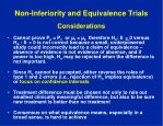 non inferiority and equivalence trials considerations