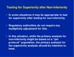 testing for superiority after non inferiority