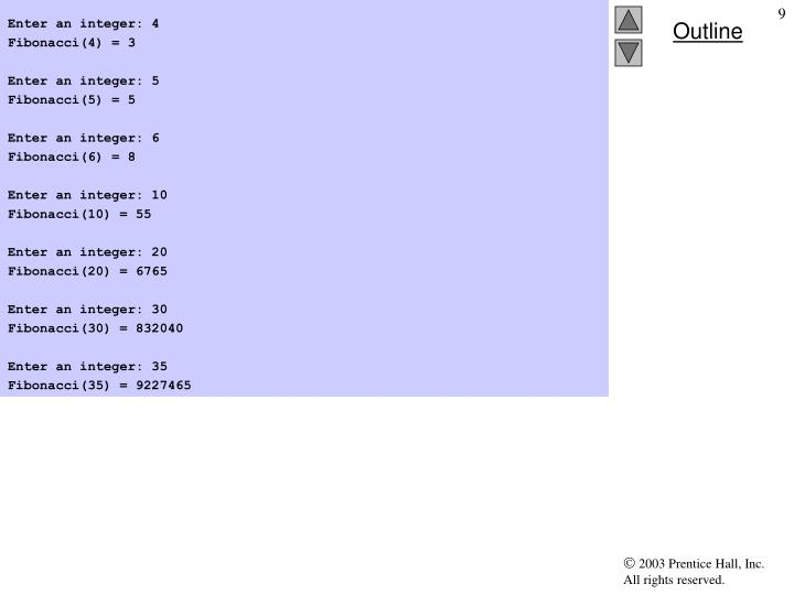 Enter an integer: 4