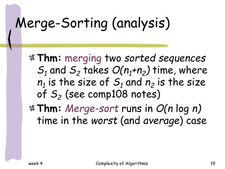 Merge-Sorting (analysis)