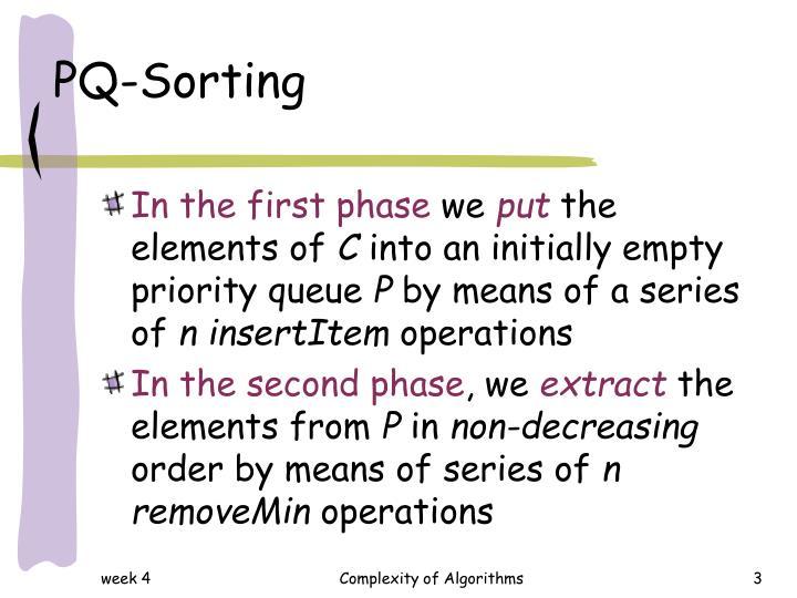Pq sorting