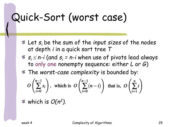 Quick-Sort (worst case)