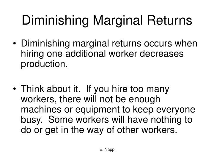 Diminishing Marginal Returns