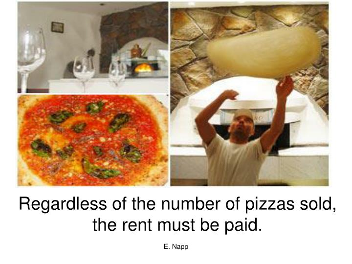 Regardless of the number of pizzas sold,