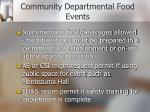community departmental food events1