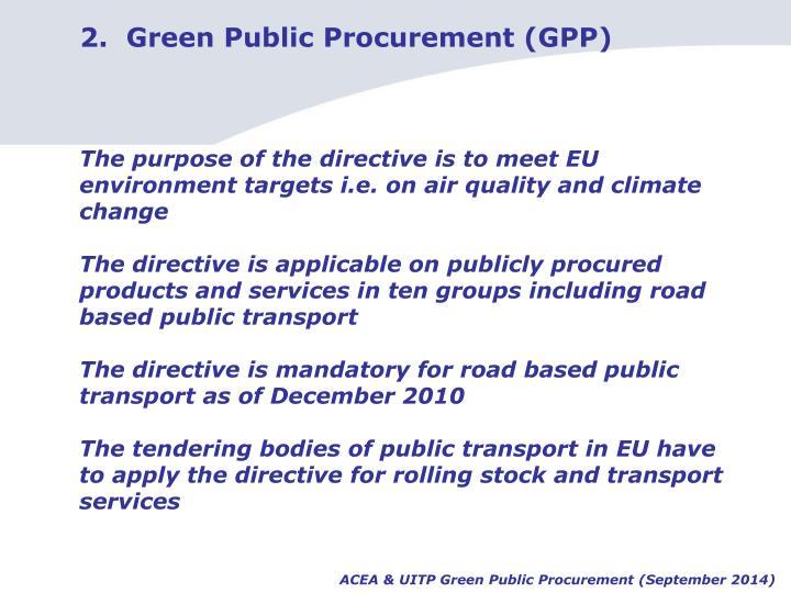 2.  Green Public Procurement (GPP)
