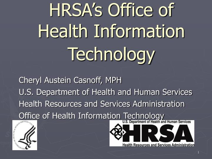 hrsa s office of health information technology n.