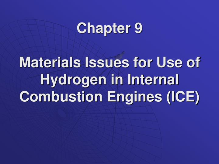 PPT Chapter 9 Materials Issues For Use Of Hydrogen In