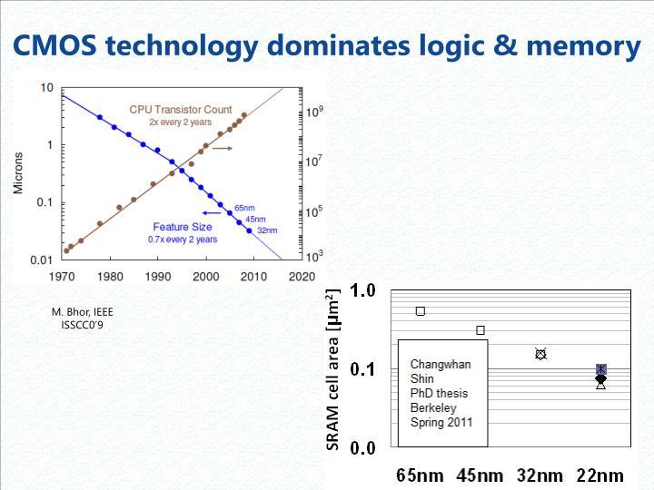 CMOS technology dominates logic & memory