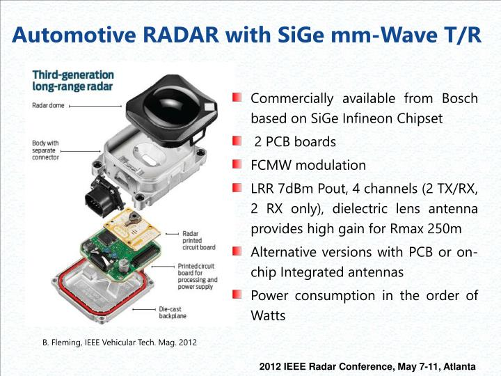 Automotive RADAR with S