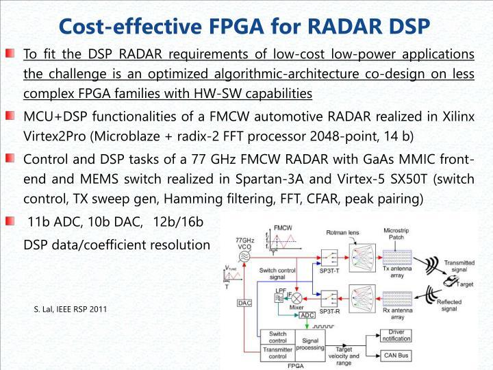 Cost-effective FPGA for RADAR DSP