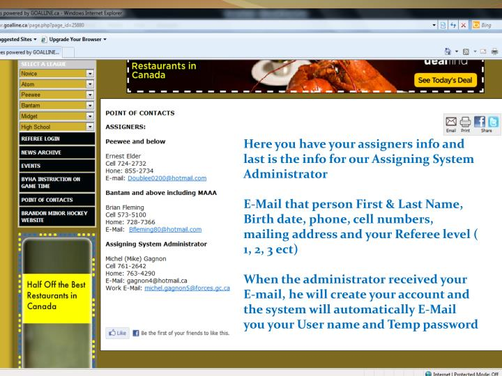 Here you have your assigners info and last is the info for our Assigning System Administrator